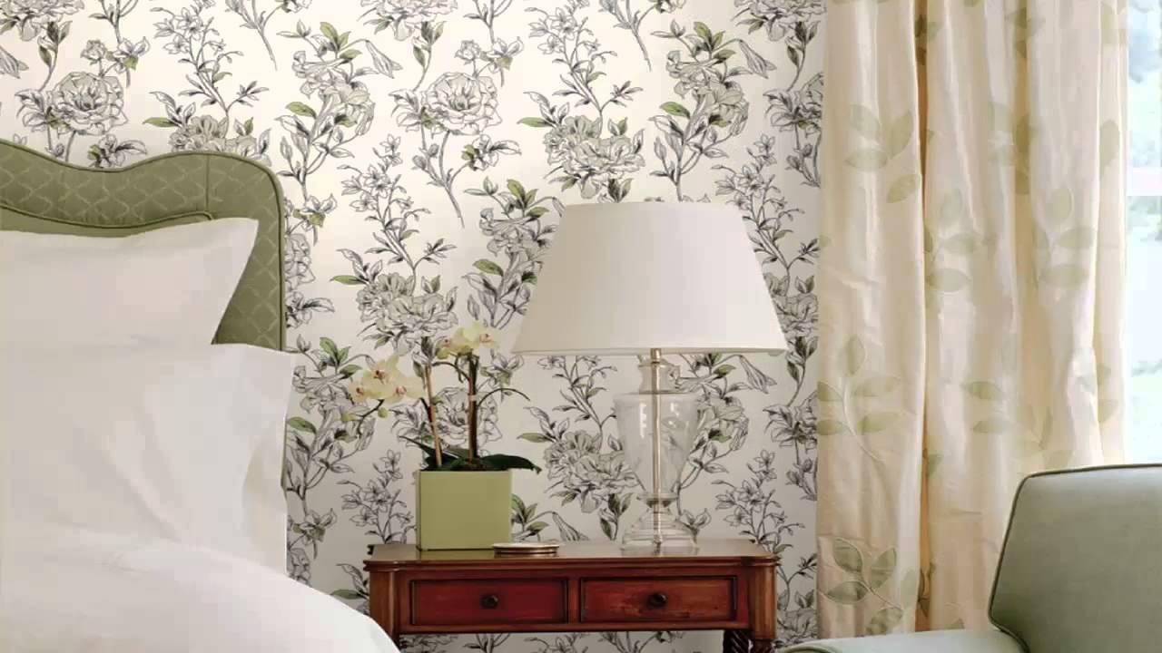 أشكال ديكورات ورق حائط لغرف النوم ملون ومشجر