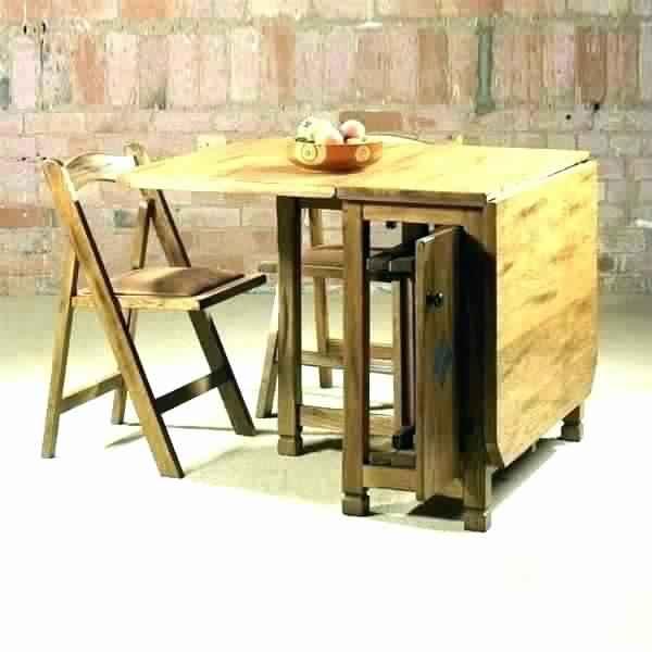 صور طاولة طعام خشبية صغيرة قابلة للطي