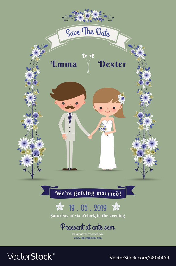تصميم دعوة لحضور حفل زفاف مزينة بإطار من الورود