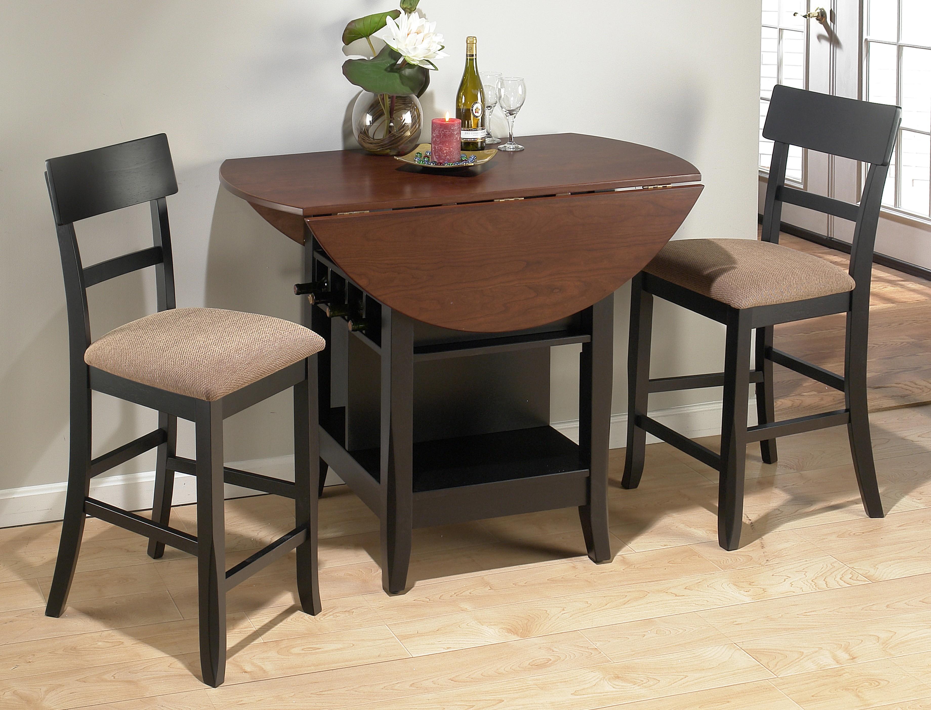 -طاولة طعام خشبية صغيرة قابلة للطي-
