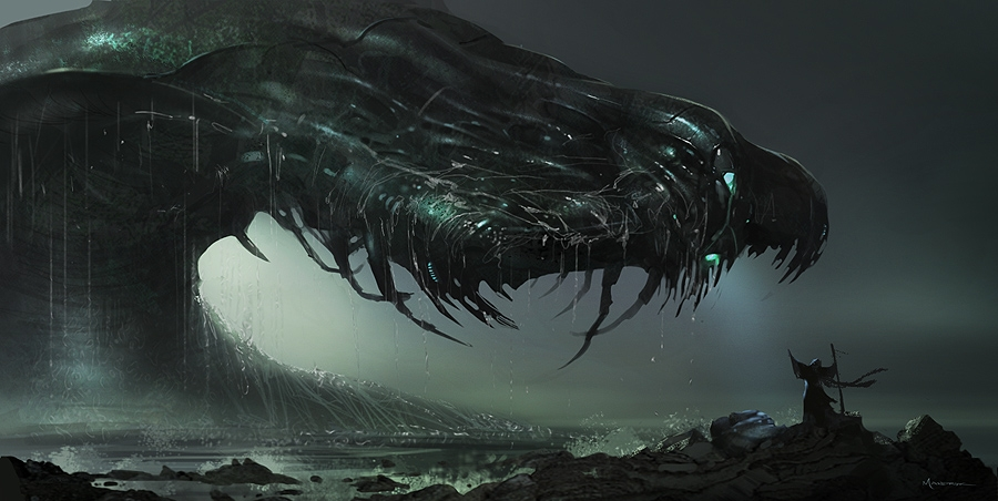 فيديو حقيقي لوحش بحري مثلما يظهر في أفلام الرعب