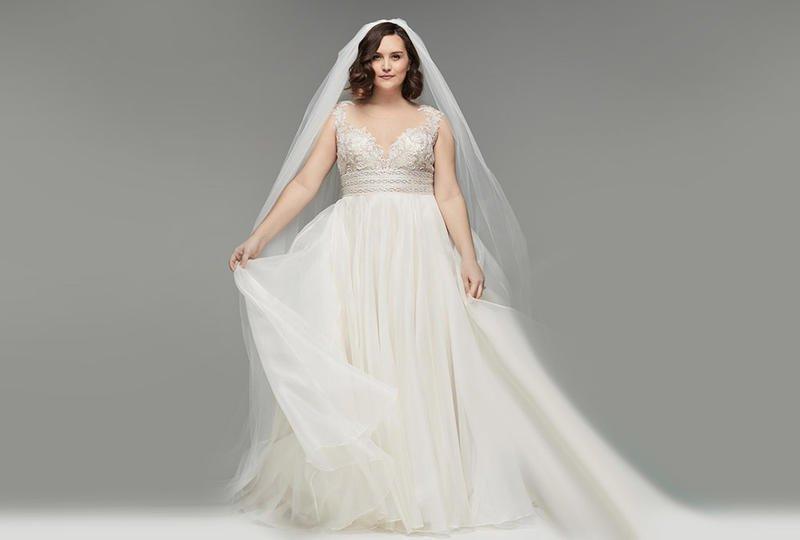 فساتين زفاف للسمينات