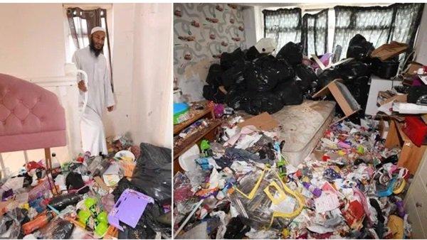 أم لـ ٤ أطفال لم تفتح منافذ المنزل لمدة 12شهراً وتركت المنزل غارقاً بالبراز