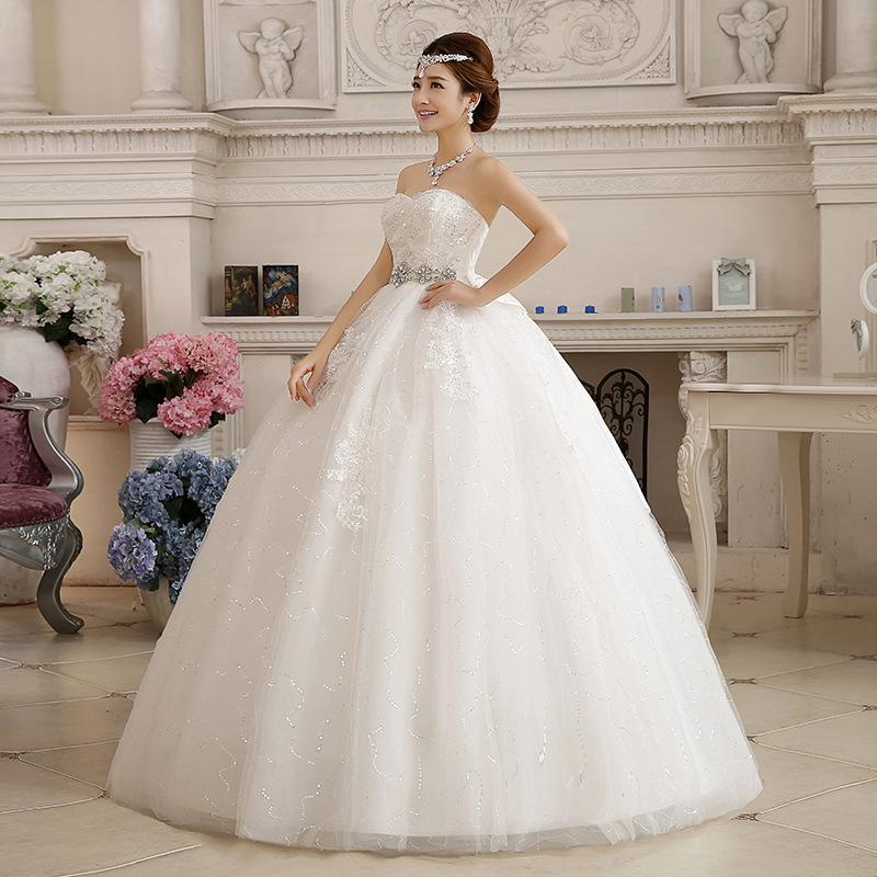 فساتين زفاف كب منفوش