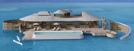 منتجعات سونيفا فوشي فلل عائمة وسط مياه المالديف الفيروزة