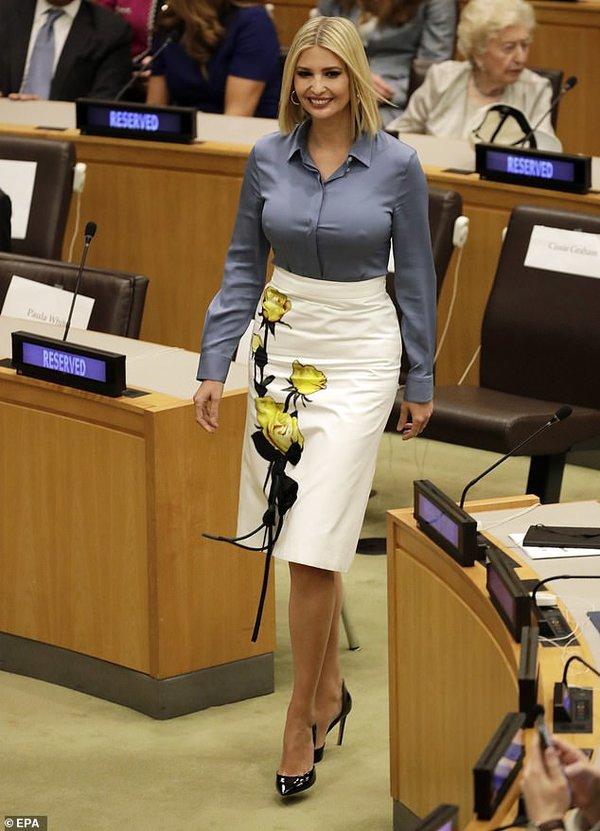 إيفانكا ترامب في الأمم المتحدة بدون حمالة صدر