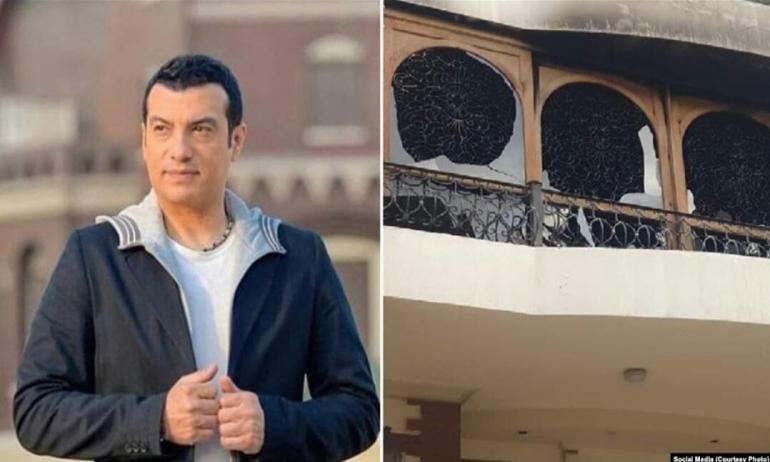 إيهاب توفيق يثير حيرة جمهوره بعد تبديل ملابسه في عزاء والده ؟!