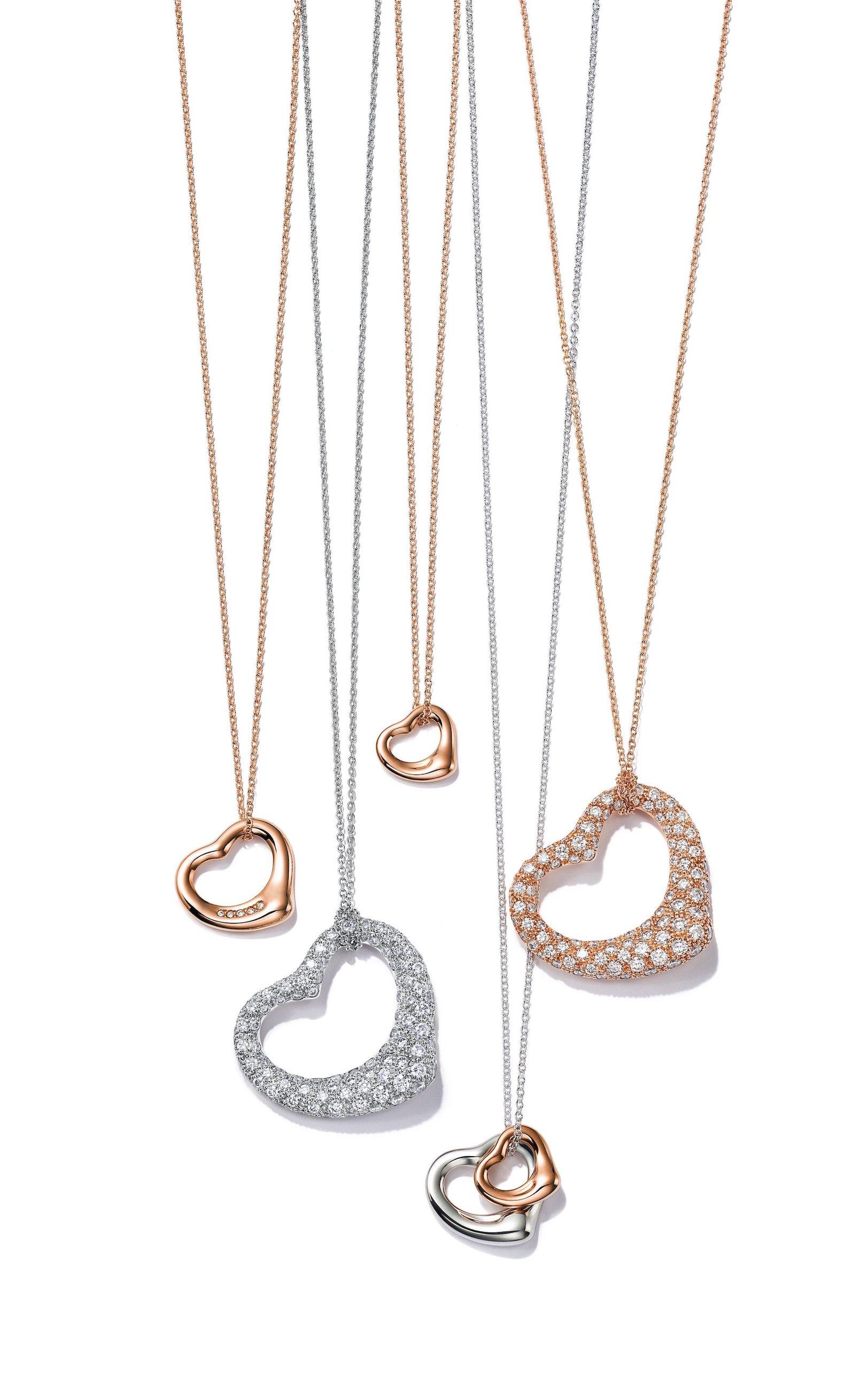 Tiffany & Co. Elsa Peretti® Open Heart necklaces