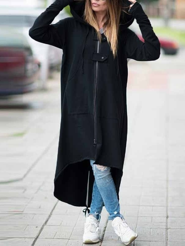 black-pockets-drawstring-zipper-hooded-casual-long-sweatshirt