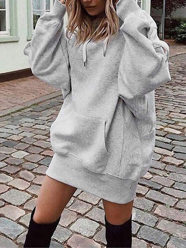 grey-drawstring-pockets-hooded-long-sleeve-casual-sweatshirt