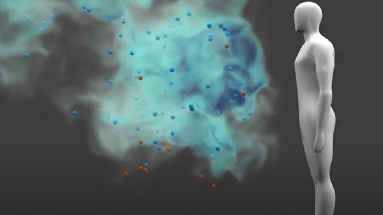 فيديو يوضح كيف ينتشر فيروس كورونا في الجو