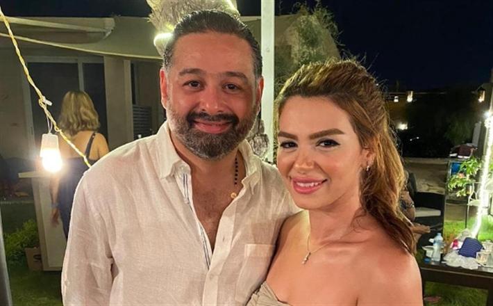 أول ظهور لـ أمير شاهين وخطيبته في عيد ميلاد ريهام حجاج