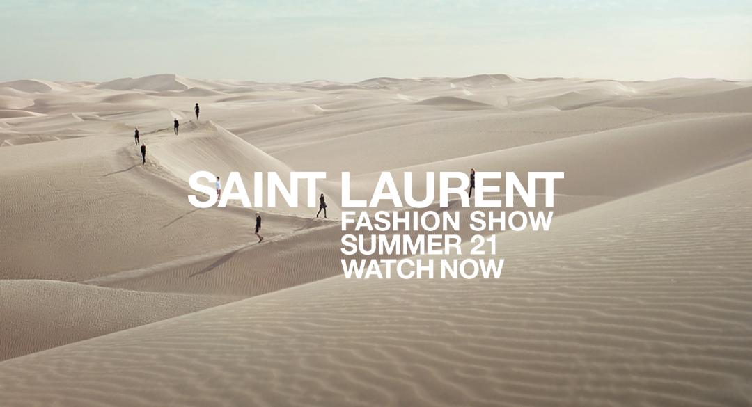 سان لوران تجري عرضها للأزياء على الرمال بسبب كورونا