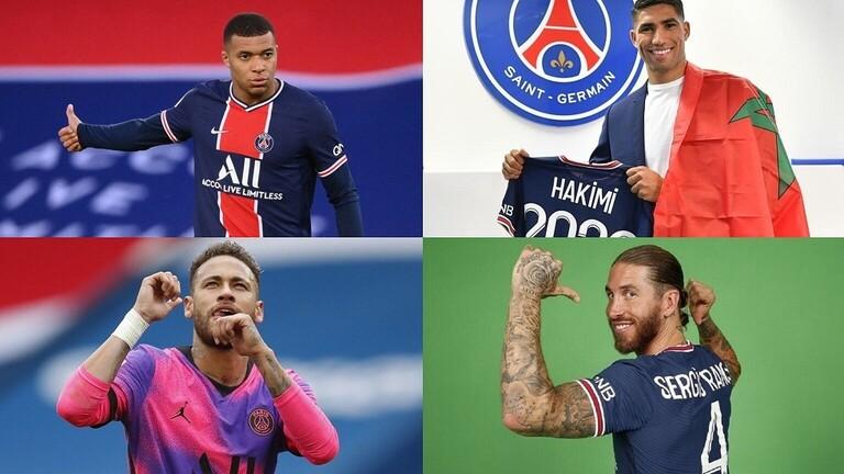 باريس سان جيرمان يعلن تشكيلته الجديدة لـ 2021- 2022