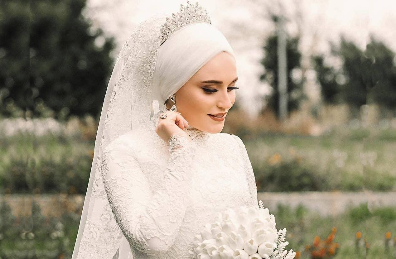 طرح وتيجان للعروس المحجبة