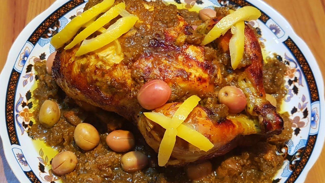 وصفات طبخ الدجاج بالطريقة المغربية